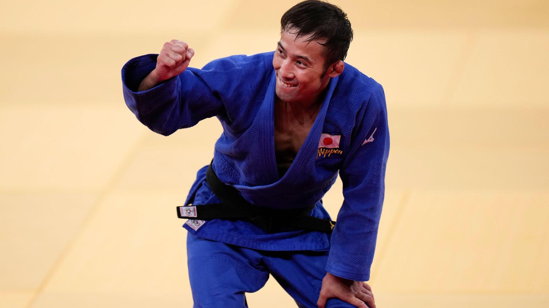 Naohisa Takato aus Japan gewann Judo-Gold.