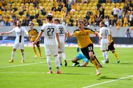 Dynamo-Profi Christoph Daferner traf gegen Ingolstadt doppelt.