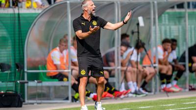 Der neue BVB-Trainer Marco Rose hofft nach der bisher holprigen Saisonvorbereitung auf Fortschritte.