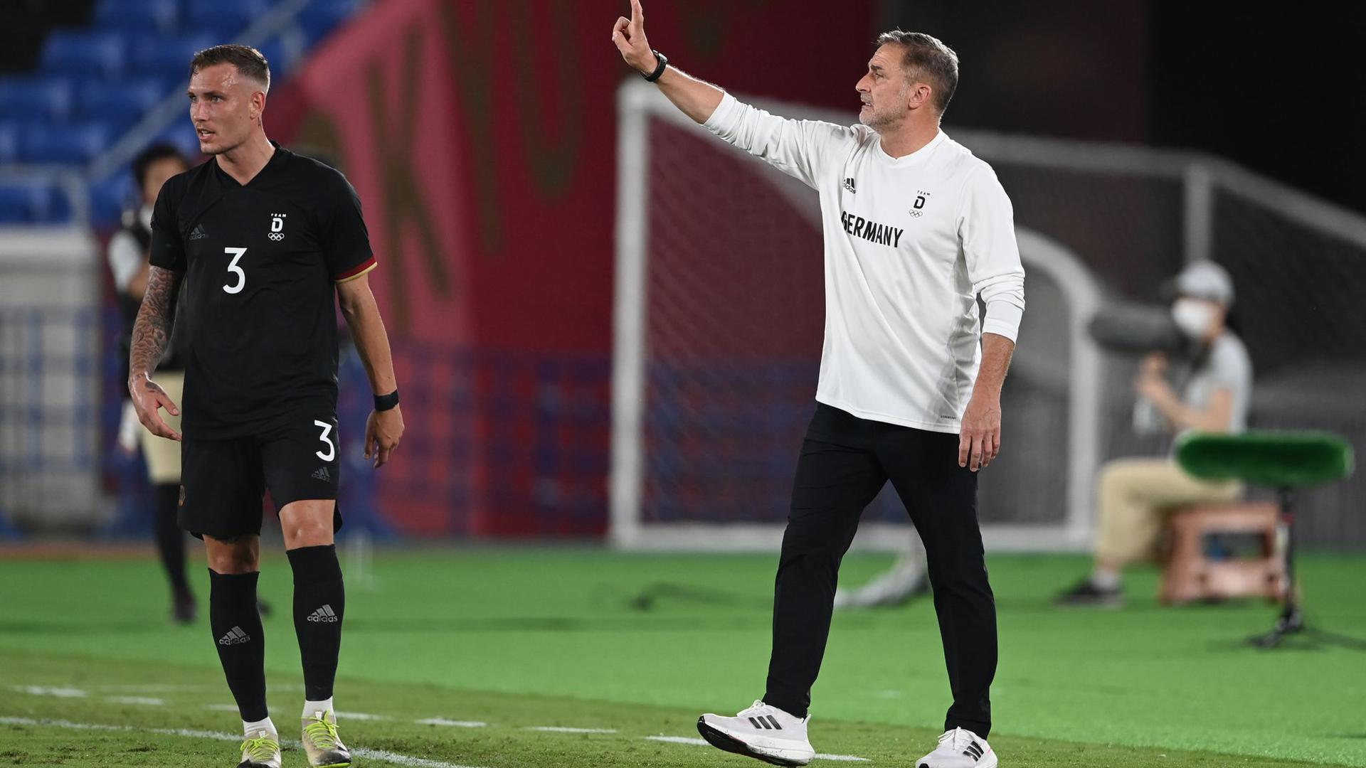 Trainer Stefan Kuntz trifft mit seinem Team im nächsten Spiel auf die Mannschaft der Elfenbeinküste.