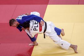 Judoka Dominic Ressel (blau) erreichte bei seinen ersten Olympischen Spielen in der Gewichtsklasse bis 81 Kilogramm Platz fünf.