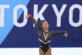 Biles ist im Olympia-Mannschaftsfinale vorzeitig ausgestiegen.