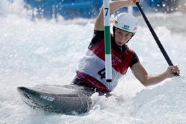 Andrea Herzog hat Olympia-Bronze im Canadier gewonnen.