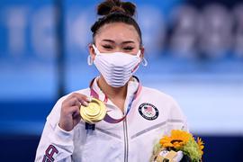 US-Turnerin Sunisa Lee gewann den Mehrkampf in Tokio mit 57,433 Punkten.