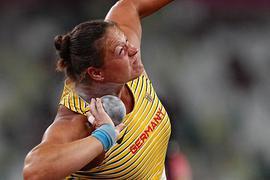 Christina Schwanitz scheiterte schon in der Qualifikation.