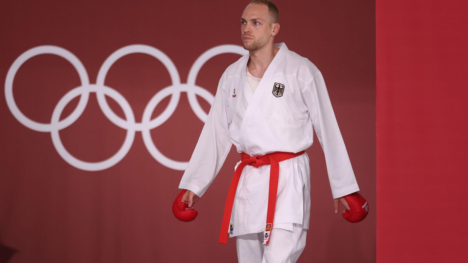 Kam in Tokio nicht über die Vorrunde hinaus: Karateka Noah Bitsch.
