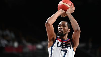 Basketball-Star Kevin Durant hat mit dem US-Team die Goldmedaille gewonnen.