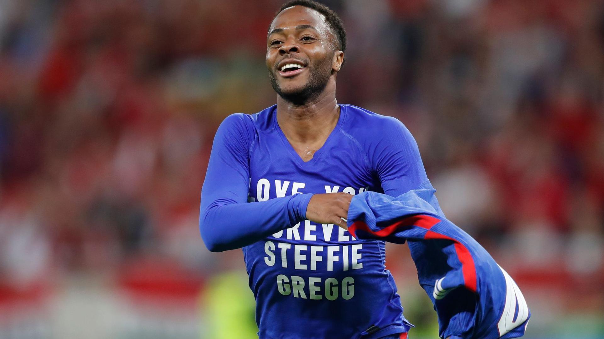 Raheem Sterling traf für England in Budapest.