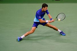 Novak Djokovic in Aktion.