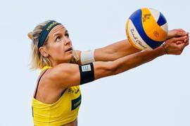 Bei den deutschen Beachvolleyball-Meisterschaften schon ausgeschieden: Laura Ludwig.