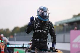 Startet von Platz eins in den Monza-Sprint: Mercedes-Pilot Valtteri Bottas.