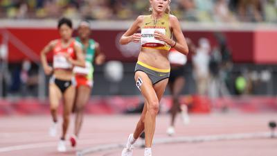 Hat zum Abschluss der Saison die deutsche Bestleistung über 2000 Meter auf 5:34,53 Minuten verbessert: Konstanze Klosterhalfen.