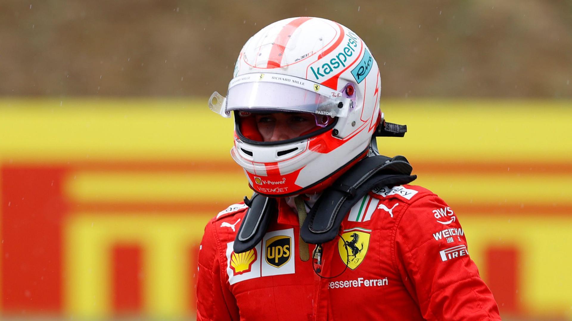 Muss vom Ende des Feldes in das Formel-1-Rennen in Sotschi starten: Ferrari-Pilot Charles Leclerc.