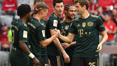 Am vergangenen Wochenende waren die Bayern gegen Bochum siebenmal erfolgreich.