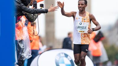 Geht mit Zuversicht in den Berlin-Marathon: Der Äthiopier Kenenisa Bekele.