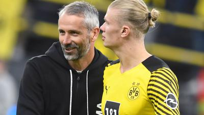 Dortmunds Trainer Marco Rose bangt um den Einsatz von Stürmer Erling Haaland.
