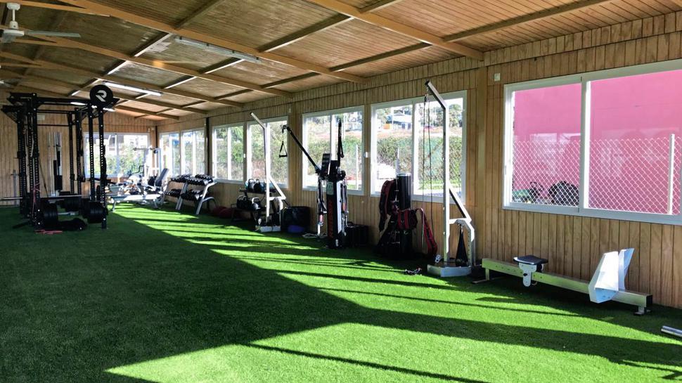 In diesem Fitnessraum in Estepona schuften die Profis des KSC.